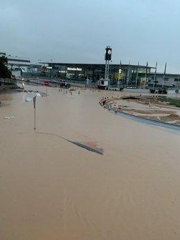 Efectos del temporal de lluvia en San Javier