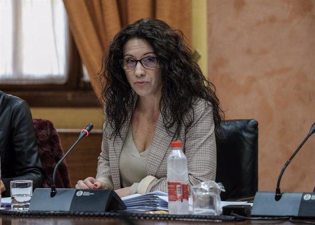 La consejera de Igualdad, Rocío Ruiz, en una imagen de archivo, en comisión parlamentaria.