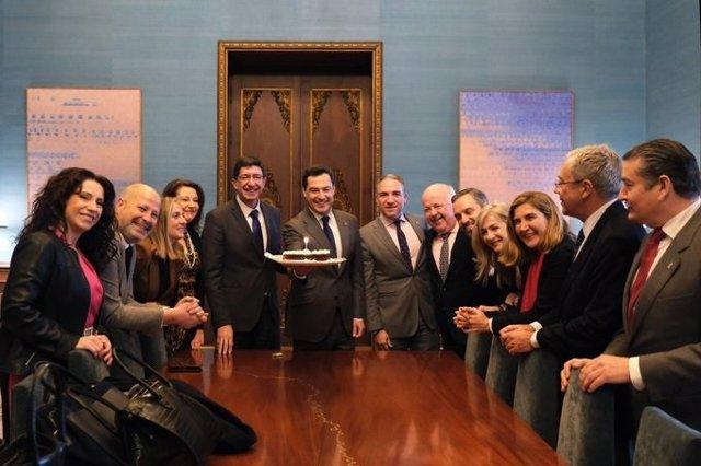 El Consejo de Gobierno andaluz de PP-A y Ciudadanos celebra su primer año