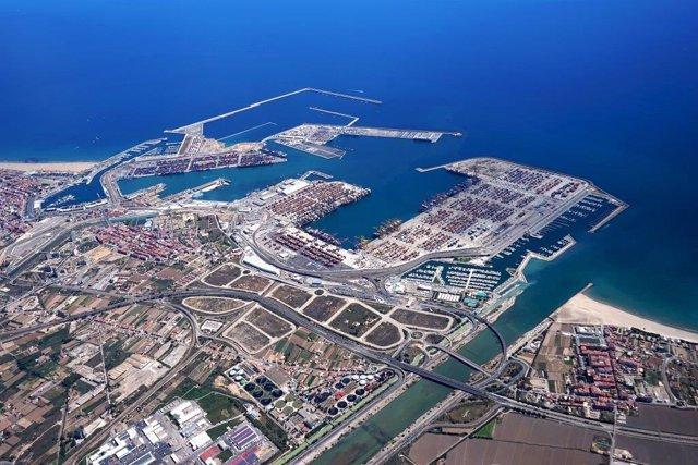 Imatge del Port de València des de l'aire