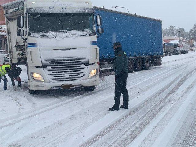 Autovía Mudéjar cortada al tráfico