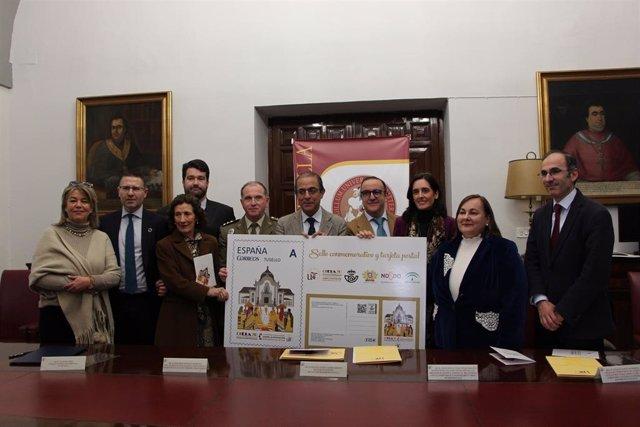 Presentación del sello y postal por el Congreso Mundial sobre la Exposición del 29