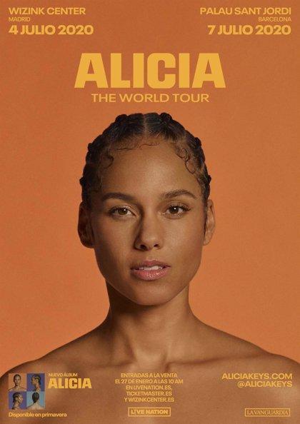 Alicia Keys anuncia conciertos en Madrid y Barcelona