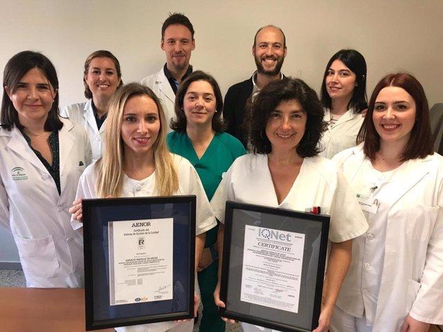 El laboratorio de Patología Molecular y Dianas Terapéuticas del Virgen del Rocío renueva su certificado Aenor