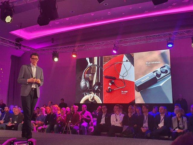 Evento en Ámsterdam (Países Bajos) de Philips, para presentar sus nuevos televisores y productos de sonido
