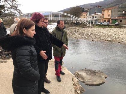 """La Junta arreglará """"con carácter de urgencia"""" los caminos públicos de Navaconcejo afectados por las inundaciones"""