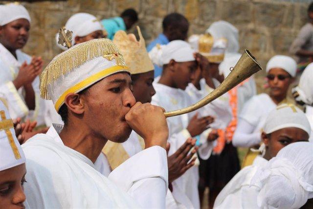 Festividad de la Epifanía (Timkat) en Etiopía