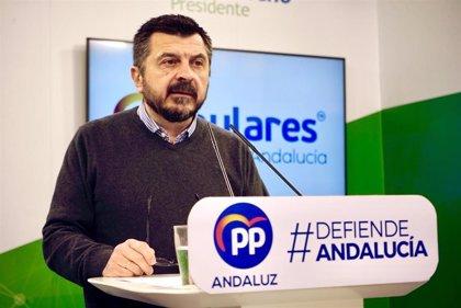 """El PP-A insiste en que el Gobierno central pretende """"robar"""" a Andalucía con el IVA por la """"hipoteca"""" de sus pactos"""