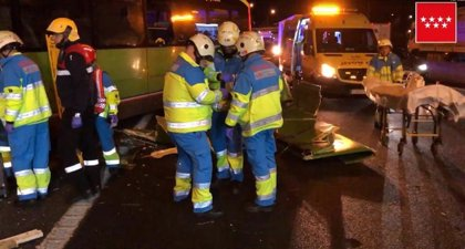 Siete heridos en un choque entre un autobús y dos coches en la A-4 a la altura de Valdemoro