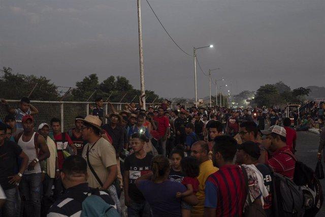 Migrantes en México.