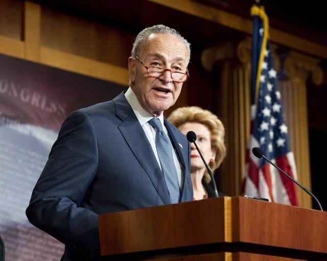 El líder de la minoría demócrata en el Senado de Estados Unidos, Chuck Schumer.