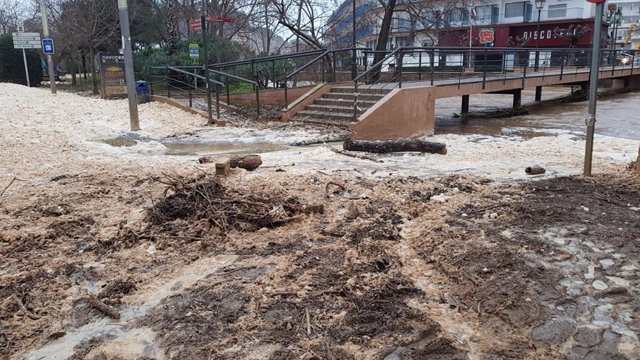 Inundacions a Tossa de Mar (Girona) pel temporal Gloria