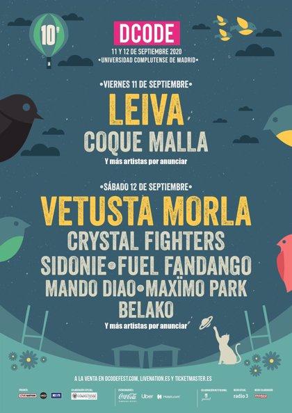 DCODE 2020 anuncia a Leiva, Vetusta Morla y Coque Malla: Entradas a la venta este miércoles