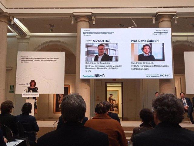 Michael Hall y David Sabatini, Premios Fundación BBVA de Biología y Biomedicina