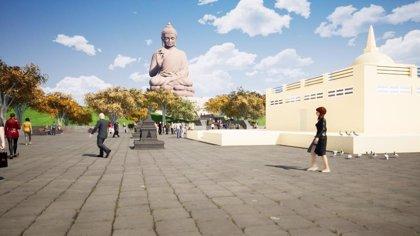 Cáceres presenta en Fitur su proyecto de construcción de un complejo budista para atraer turismo espiritual