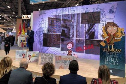 El personaje de cómic Leo Mangana se presenta en Fitur para impulsar el turismo familiar en Cuenca capital