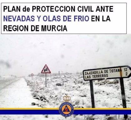 Protección Civil baja a nivel 2 la fase de emergencia de su plan ante el riesgo de nevadas y olas de frío en la Región