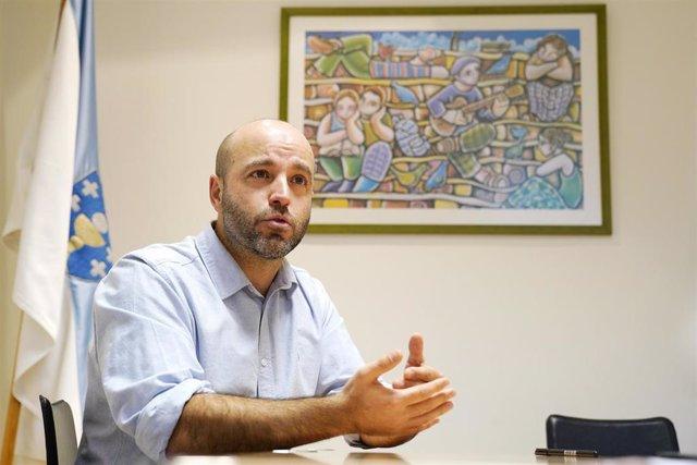 El portavoz de En Marea en el Parlamento de Galicia, Luís Villares, durante una entrevista con Europa Press en el Parlamento de Galicia, en Santiago de Compostela/Galicia (España) a 16 de enero de 2020.