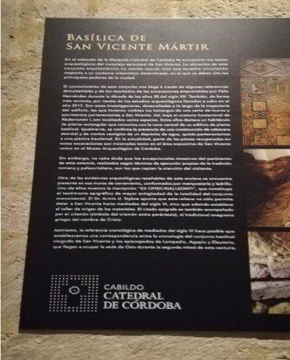 La Plataforma Mezquita Catedral de Córdoba pide la retirada de alusiones a la mítica basílica descartada por arqueólogos