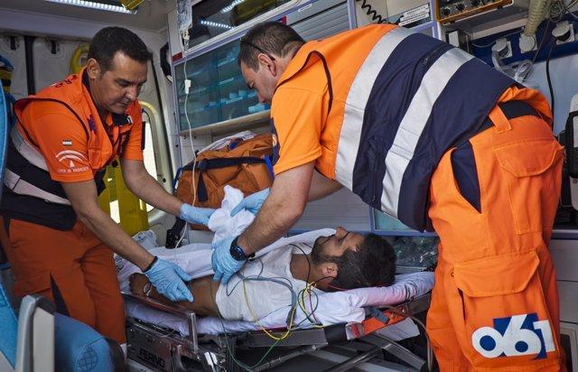 Imagen de archivo de mienbros del servicio de emergencias 061