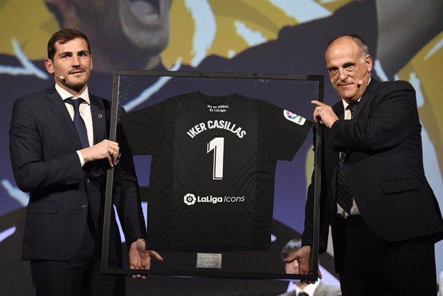 """Fútbol.- Javier Tebas: """"¿Casillas? Prefiero a cualquiera antes que a Rubiales"""""""