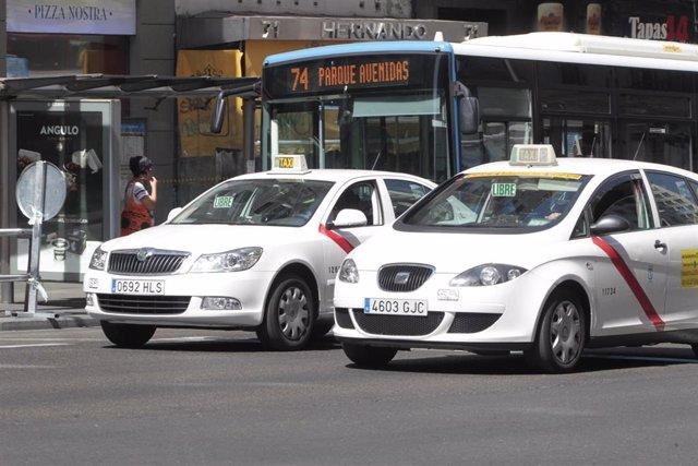 Imagen de archivo de un taxi en Madrid