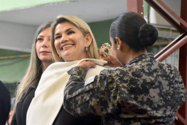 La autoproclamada presidenta interina de Bolivia, Jeanine Áñez.