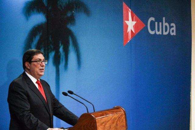 El ministro de Exteriores de Cuba, Bruno Rodríguez.