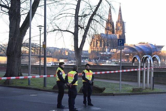 Una zona de Colònia acordonada arran d'una evacuació per la presència d'una bomba de la Segona Guerra Mundial que va ser neutralitzada el 21 de gener.