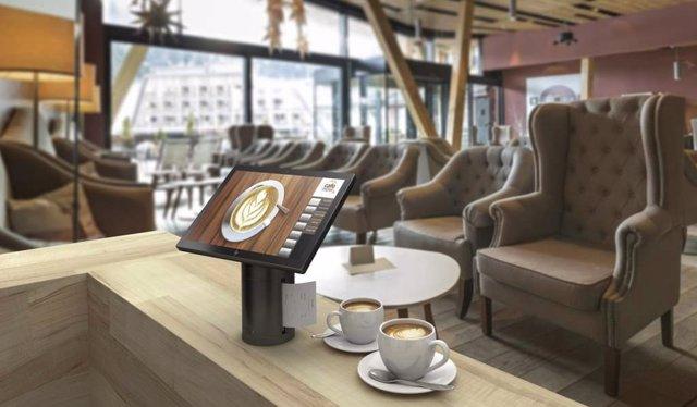 Dispositivo para la zona de registro del hotel HP POS Engage Go