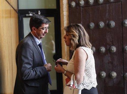 """Juan Marín: La actitud del PSOE-A del """"no es no"""" a la Junta """"continuará"""" pese al resultado de su crisis interna"""