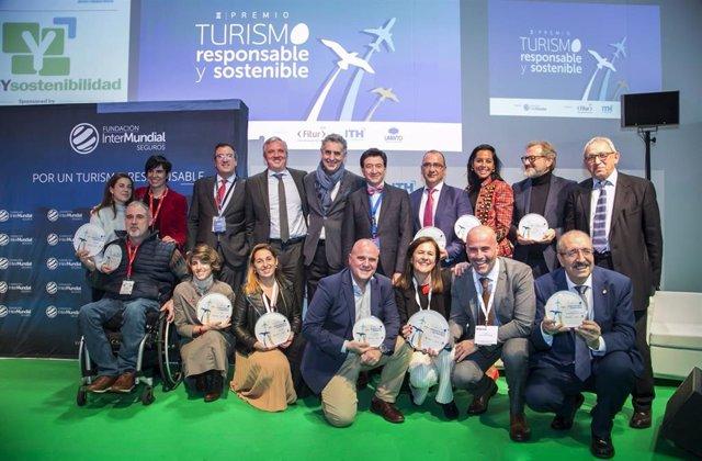 Gandores y finalistas del III Premio de Turismo Responsable y Sostenible de la Fundación InterMundial.
