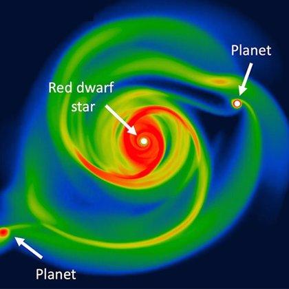 Mundos gigantes pueden formarse de pequeñas estrellas en miles de años