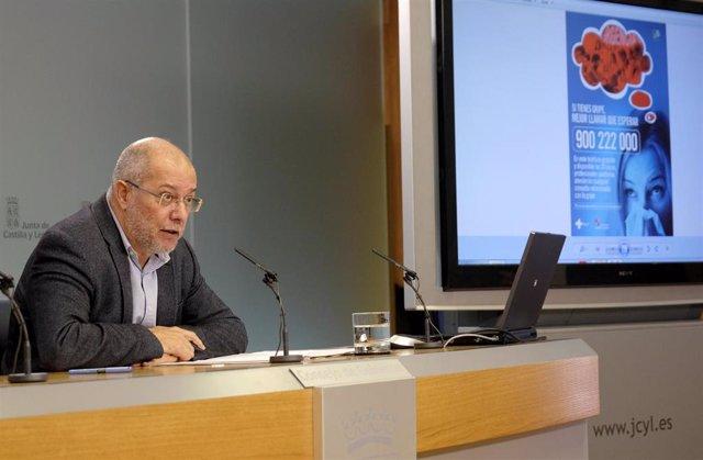 El vicepresidente de la Junta, Francisco Igea, en la rueda de prensa posterior al Consejo de Gobierno