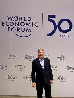 El presidente de Naturgy, Francisco Reynés, en Davos