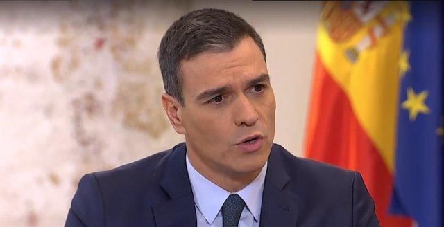 Entrevista a La Sexta al president del Govern central, Pedro Sánchez.