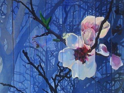 La pintora Begoña Ramos presenta en el Real Jardín Botánico de Madrid su exposición 'El bosque, un lugar'