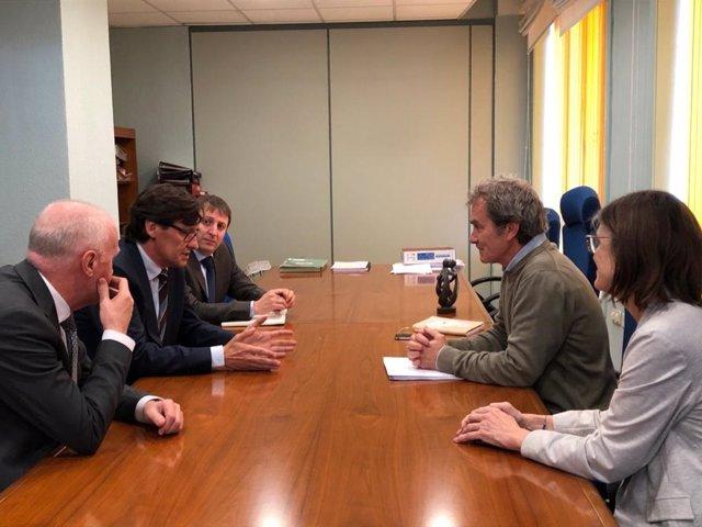 Reunión del ministro de Sanidad por el coronavirus