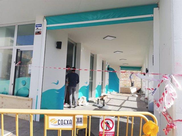 Daños en el local de restauración 'Norai', en Cala Rajada, como consecuencia de la borrasca 'Gloria'.