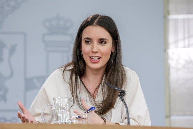 Irene Montero anuncia que la ley para incluir el consentimiento expreso en el Có
