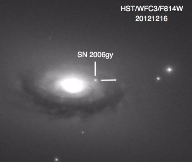 Observación de la supernova superluminosa