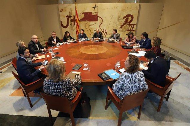 El presidente de la Generalitat, Quim Torra, en el Consell Executiu en una foto de Archivo
