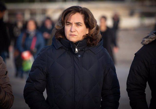 L'alcaldessa de Barcelona, Ada Colau, visita les zones afectades per la borrasca Gloria a Barcelona.