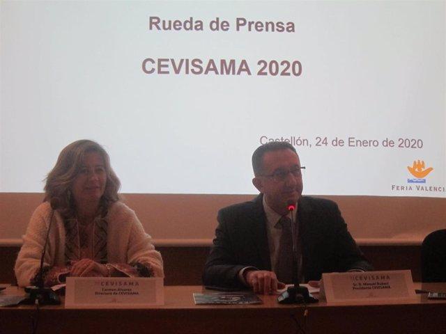 Manuel Rubert y Carmen Álvarez en la presentación de Cevisama