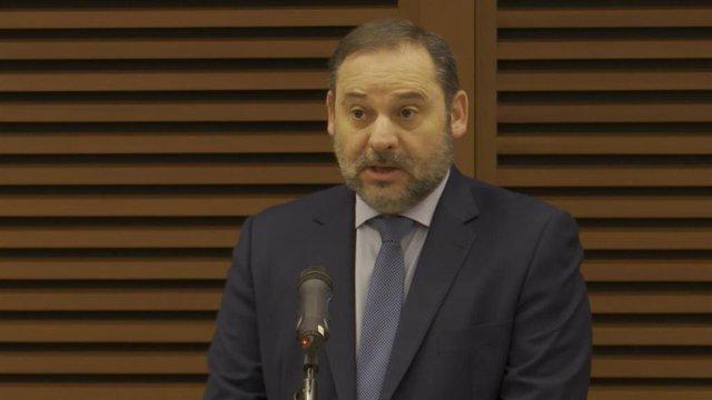 José Luis Ábalos, ministro de Transportes, Movilidad y Agenda Urbana.