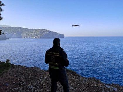 El dron del 112 se incorpora a la búsqueda del desaparecido en el torrente de Na Mora