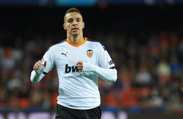 Rodrigo Moreno of Valencia during the Uefa Champions League group H match between Valencia and Chelsea at Mestalla Stadium on November 27, 2019 in Valencia, Spain