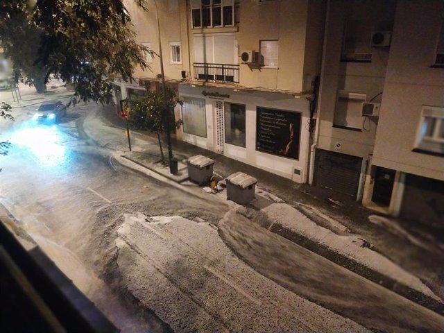 Fuertes lluvias en Málaga capital