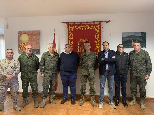 Encuentro de militares de la Subdelegación de defensa con medios de comunicación de Lleida, el 24 de enero de 2020.