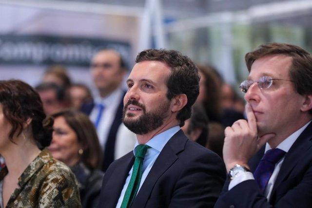 El president del Partit Popular, Pablo Casado i l'alcalde de Madrid, José Luis Martínez-Almeida.